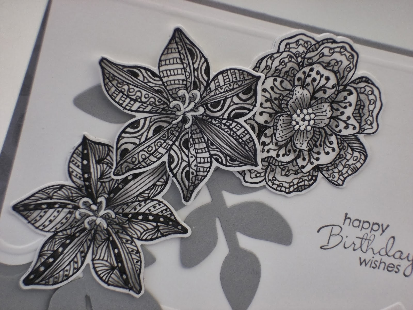 Secret Garden flowers Zentangle style