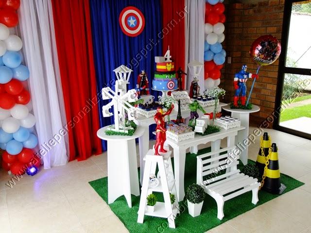 Decoração de festa infantil Os Vingadores