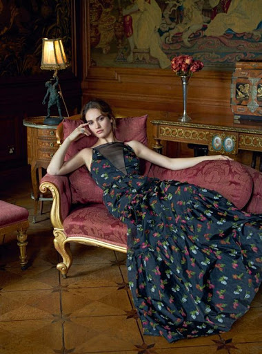 Lily James Harper's Bazaar UK