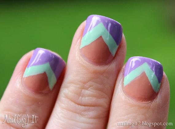 Nailing It Tri Color V Nail Art