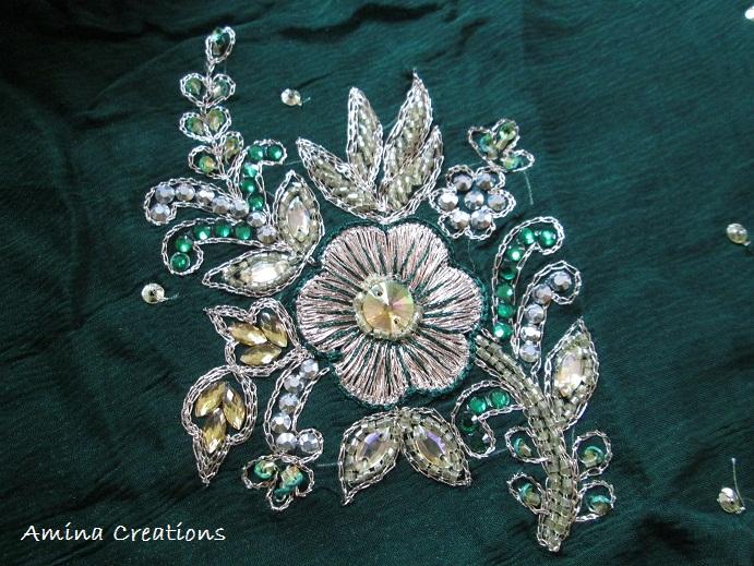 Amina Creations Chamki Moti And Ladi Embroidery Designs