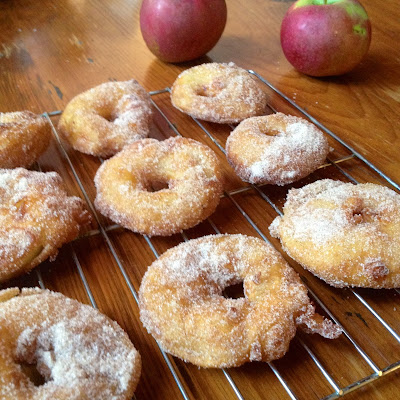 ... would make apple fritter rings and they were the best thing ever