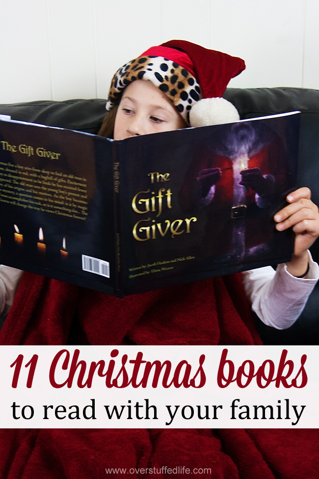 A list of Christmas books to read together as a family this December. Learn about the Christmas traditions of other places and times, and bring the spirit of Christmas into your home! #overstuffedlife