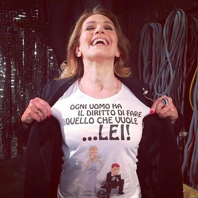 Foto maglietta Barbara d'Urso