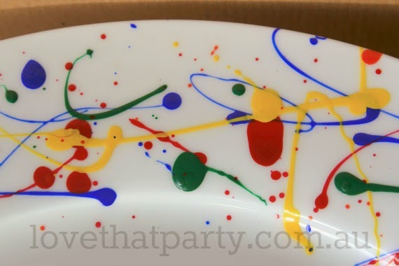 cake stand, diy, art party, party ideas, nail polish craft, kids paries, party planning, tips, party food, birthday cakes