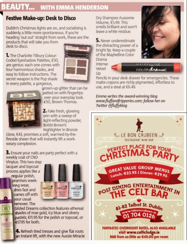 Christmas Party Makeup Irish Beauty Blog Fluff and Fripperies