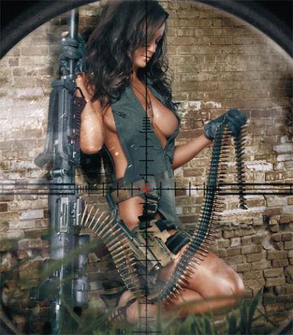 Фото красивых девушек голых с оружием 15792 фотография