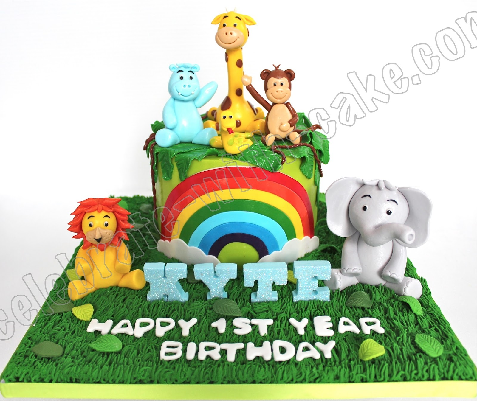 Celebrate With Cake 1st Birthday Animal Safari Cake
