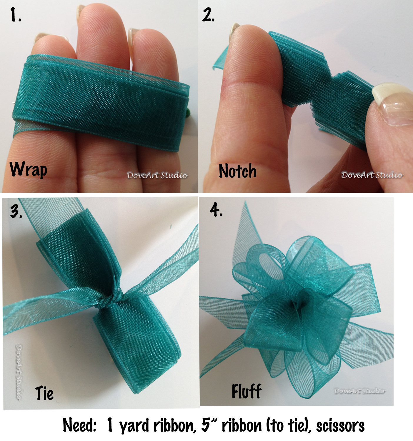 How to Make Easy Bows with Ribbon