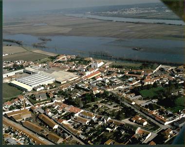 Vista aérea de Azinhaga do Ribatejo