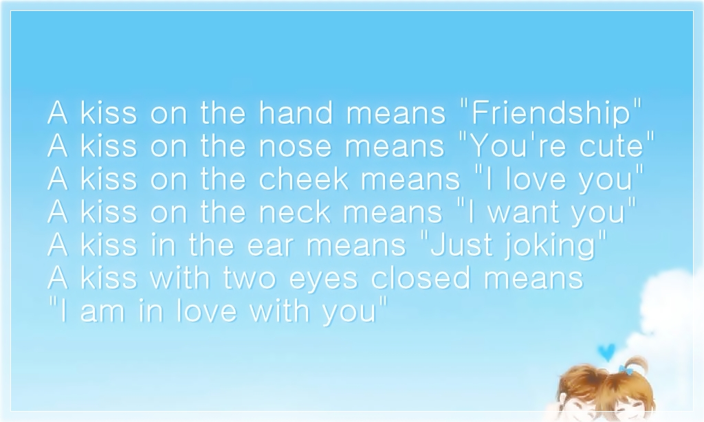 Friend Kiss Quotes : Quotes about kisses on the nose quotesgram
