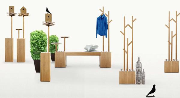 Mobiliario deco mobiliario para jard n de madera estilo deesawat - Mobiliario para jardin ...