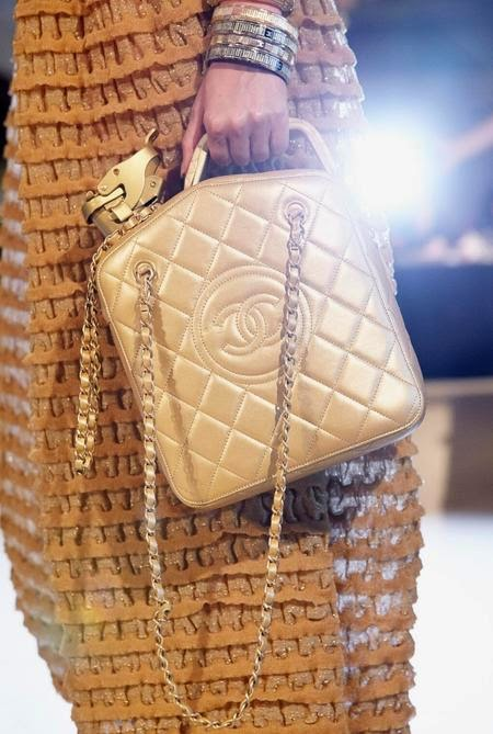 Love It or Hate It: Chanel's Cruise 2015 Gold Petrol Can Bag