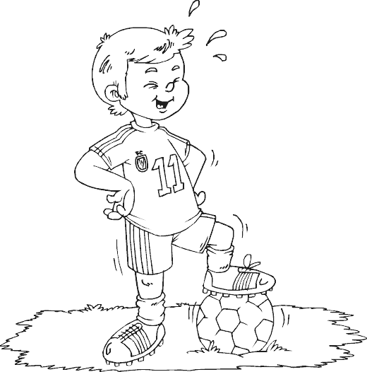 Boy Coloring Pages : William Soccer Practice In The Park title=
