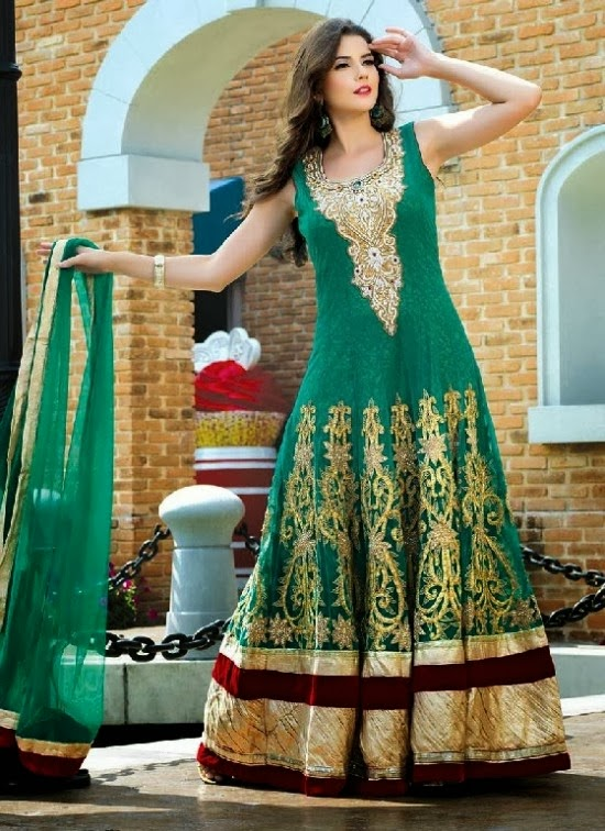 Unique Indian Designer Wear Long Gown Designs Ethnic Clothing For Modern