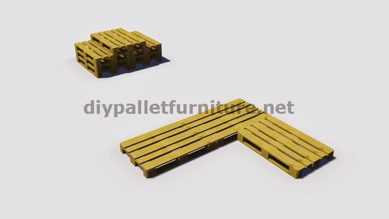 Instrucciones y planos en 3d de como - Como hacer un sofa con palets de madera ...