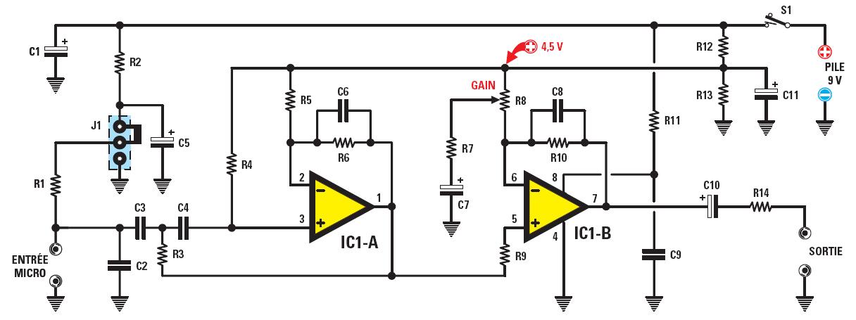 Un pr amplificateur hi fi universel pour microphone schema electronique net - Comment installer une terre ...