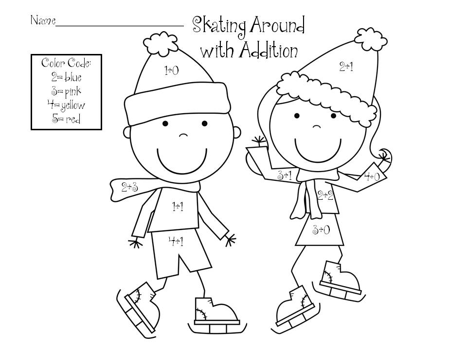 winter color by number colouring pages we