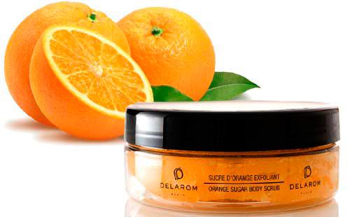 Exfoliante a la naranja de Delarom