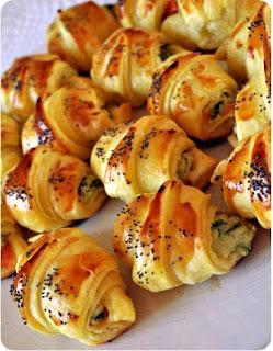 Recette du mini croissant feuilleté au saumon et au fromage frais