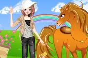 Güzel Kız ve Atı Giydirme Oyunu