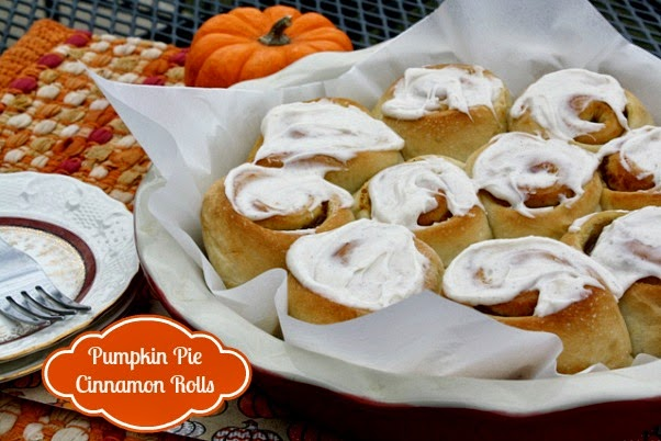 ... Recipes From my Texas Kitchen: Quick & Easy Pumpkin Pie Cinnamon Rolls