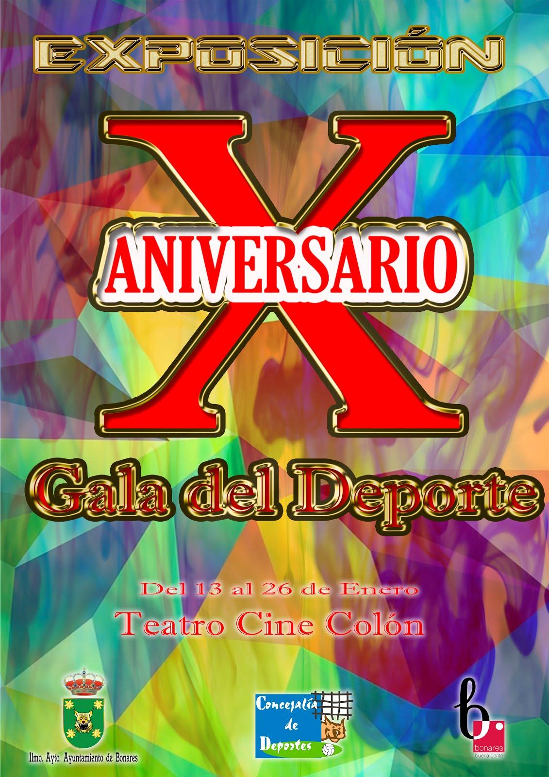 EXPOSICIÓN X ANIVERSARIO GALA DEL DEPORTE