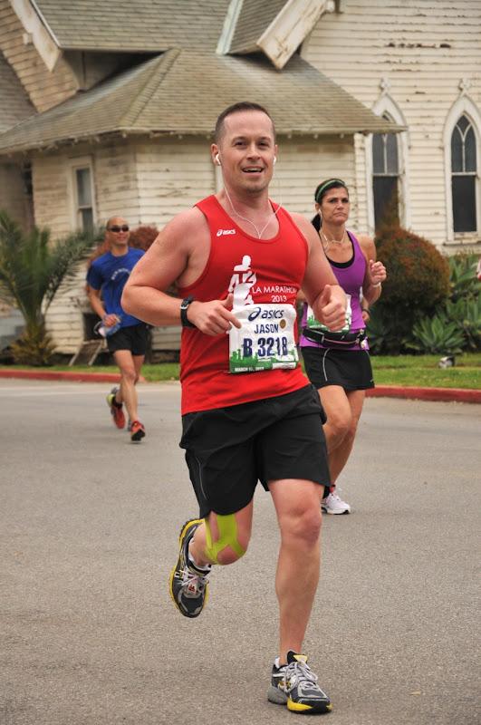 Running Veterans Administration LA Marathon 2013