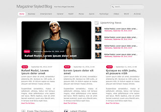 Magazine Styled Blog Layout