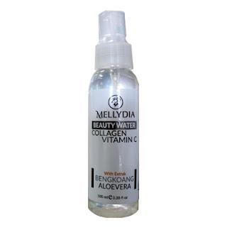 Mellydia Beauty Water membersihkan kulit Anda