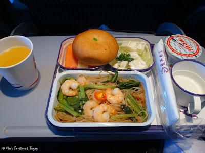 TransAsia Airways Singapore to Taipei Food 3