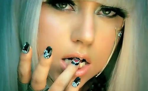 lady gaga poker face makeup. lady gaga poker face video.