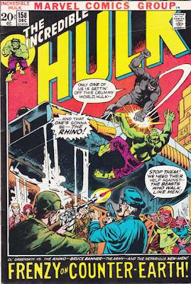 Incredible Hulk #158, the Rhino and Counter Earth