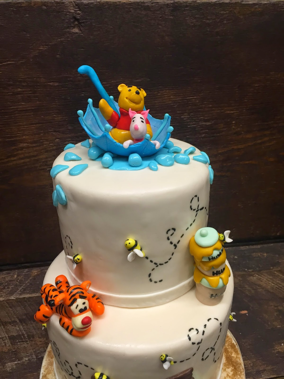 Baby Shower Cake W 100 Acre Wood Friends