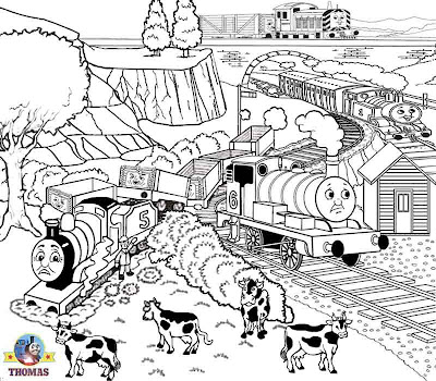 Fun things to do on Halloween kids activities sheets Thomas the tank engine colouring pages to print