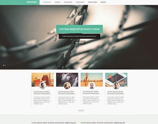 one Page Business Portfolio Template