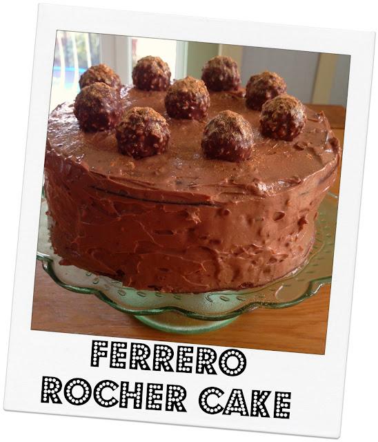 how to make ferrero rocher cake