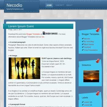 Necodio blogger template.
