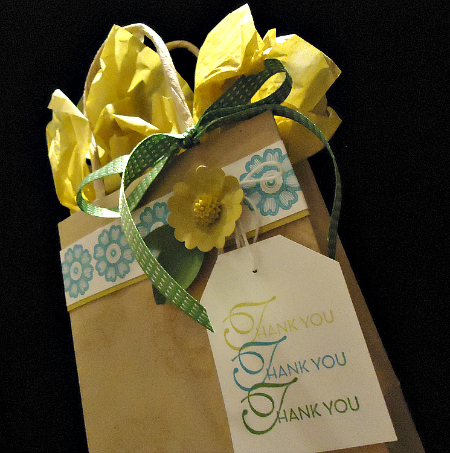 Thank You Gift Bag With Easy Adornments