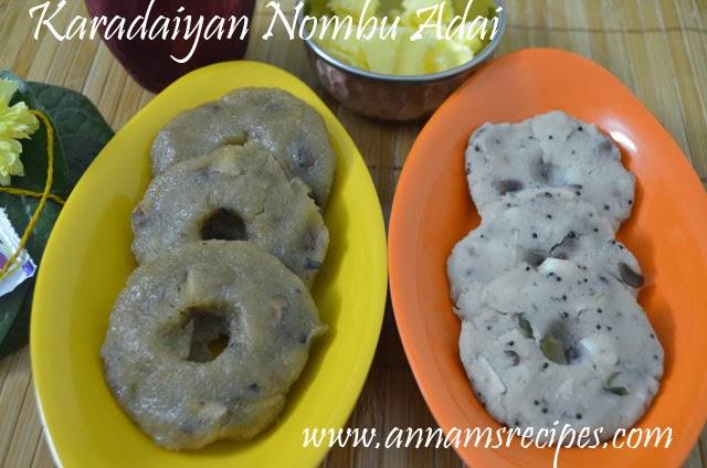 Karadaiyan Nombu Adai Sweet and Salt