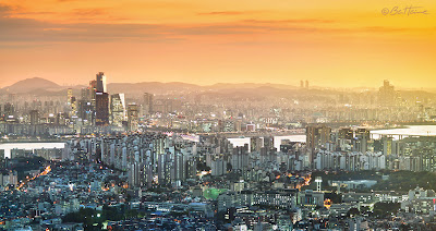 Seoul Panorama and Han River - South Korea - Photo by Ben Heine