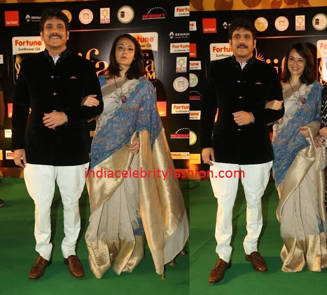 Nagarjuna Akkineni and Amala at IIFA Utsavam