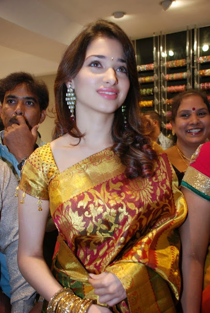 Tamanna in Saree Launches Woman's World