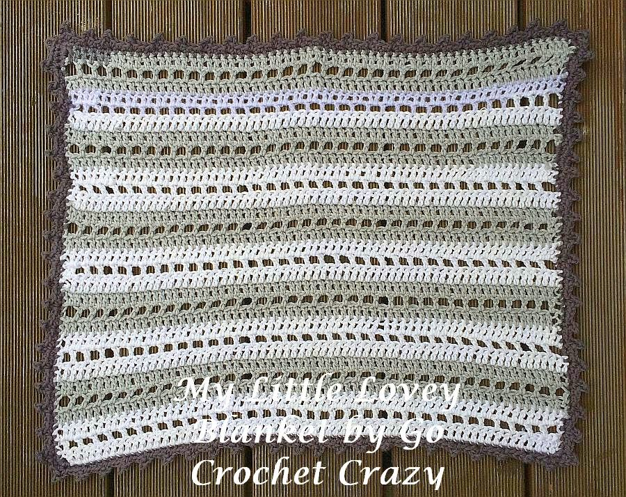 Pattern available for My Little Lovey Blanket by Go Crochet Crazy