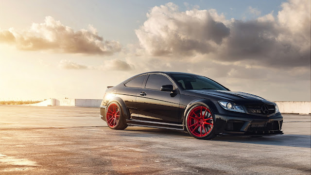 Mercedes-Benz C63 AMG Black Series HD Wallpaper