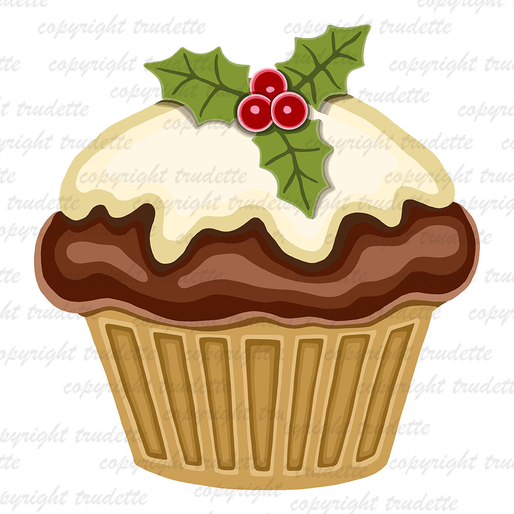 Delicious Cake Clipart : trudette: Clip art,delicious chocolate cupcake for Christm