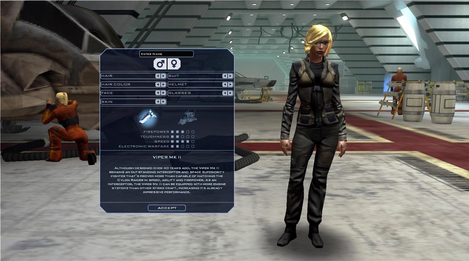 Battlestar Galactica Online - Character Creation