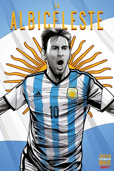 Poster keren world cup 2014 - Argentina