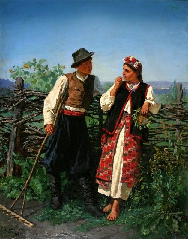 Константин Трутовский. У плетня.