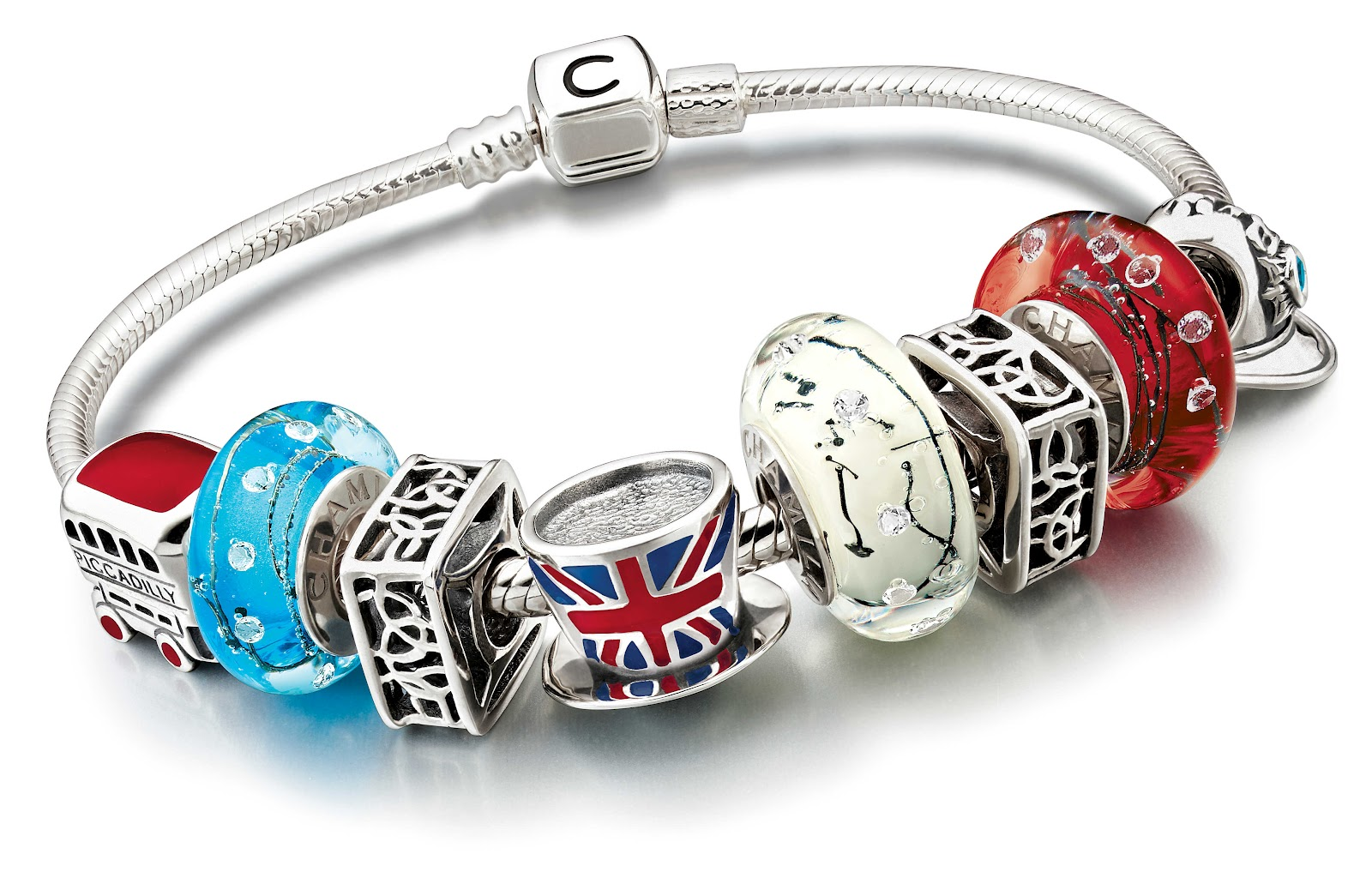 frumpy to funky the british charm bracelet by chamilia. Black Bedroom Furniture Sets. Home Design Ideas